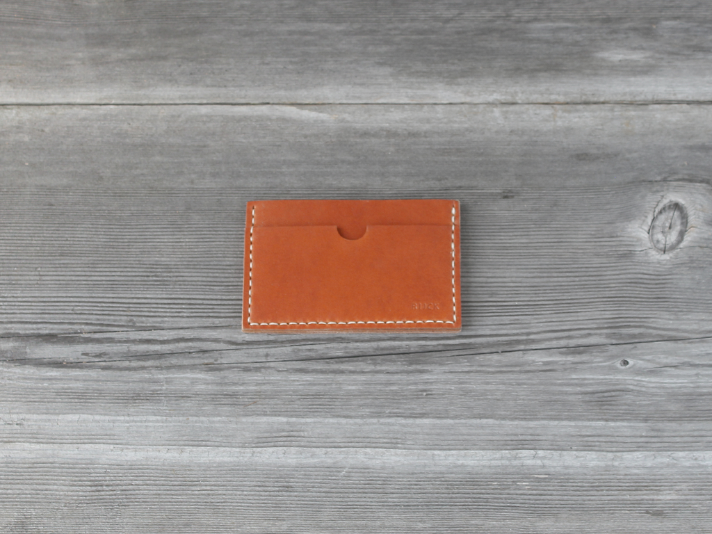 Stacked Card Case  |  Caramel