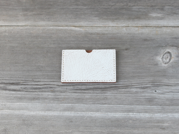 Stacked Card Case  |  White