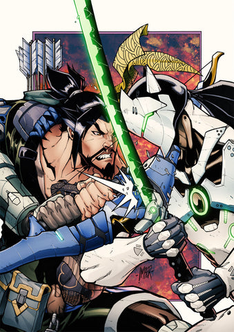 Overwatch Hanzo and Genji A3 Print