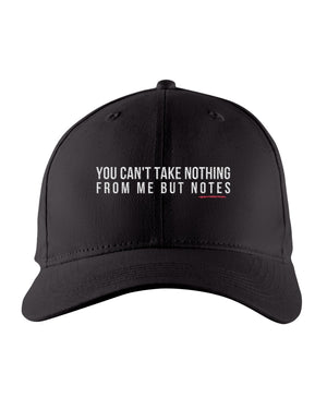 Nothing But Notes Snapback Trucker Cap - Black