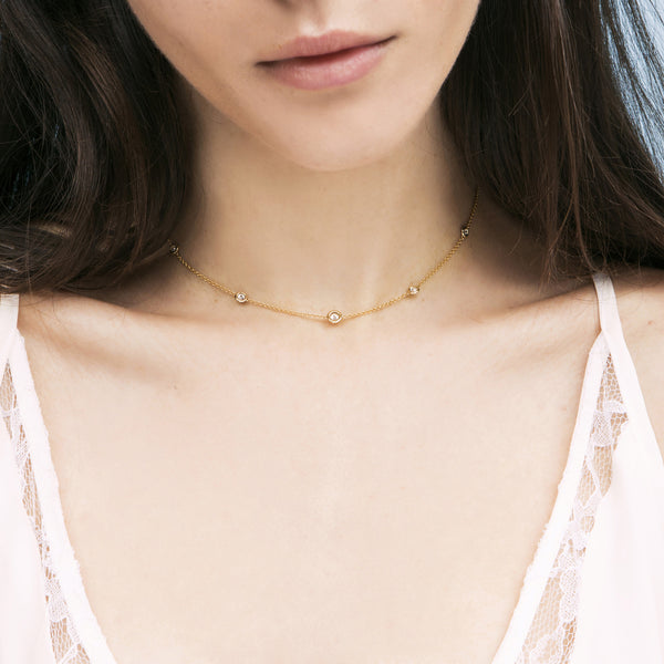 Orbit Diamond Choker