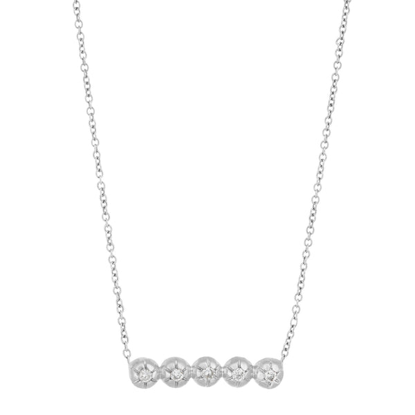 Star Line Star Set Necklace
