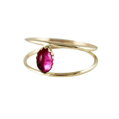 Caged Tourmaline Ring