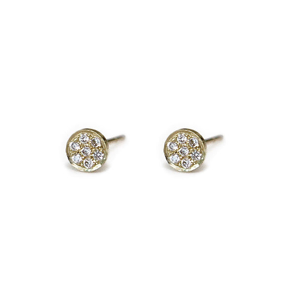 Circle Pave Diamond Studs