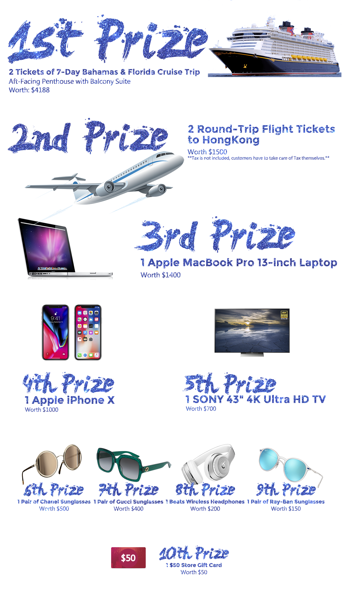 detailed raffle drawing dates locations