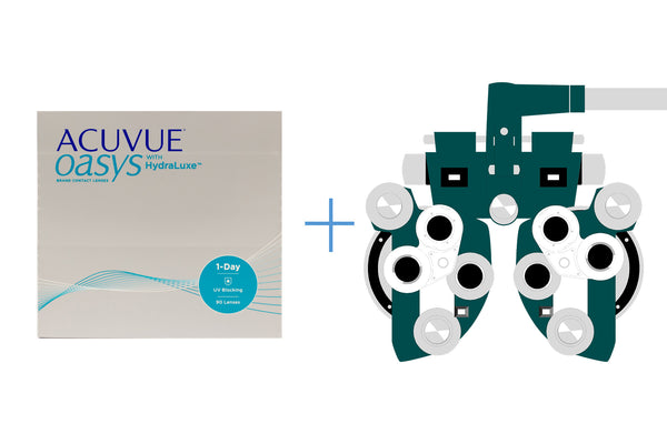 Acuvue Oasys 1-Day (90 pack) + Eye Exam