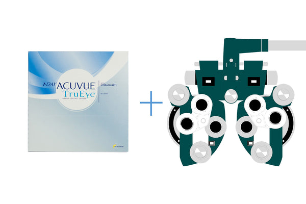 1-Day Acuvue TruEye (90 pack) + Eye Exam