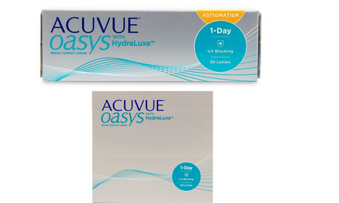 ACUVUE OASYS 1-Day: 1 eyewear with Astigmatism, 1 eye without)