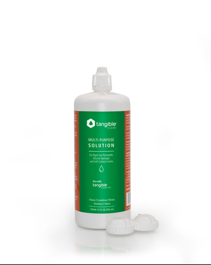 Tangible Brand Contact Lens Disinfecting Cleaning Solution (12 Ounces)