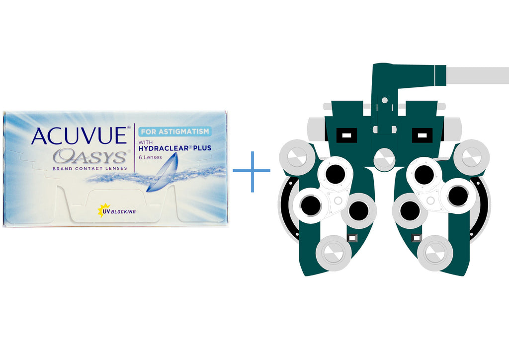 Acuvue Oasys for Astigmatism (6 pack) + Eye Exam