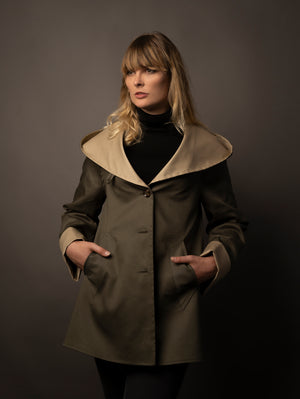 The Duster Mac - Olive | Stone