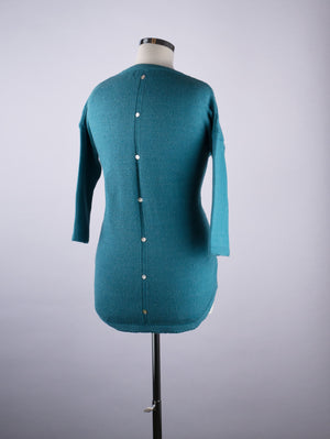 Button Back Jumper - Azure