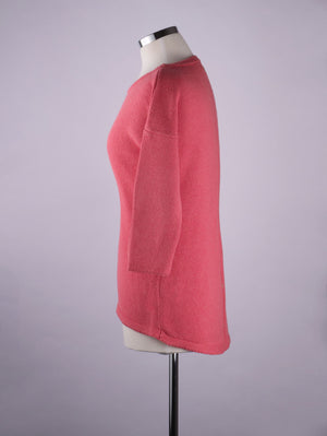 Button Back Jumper - Coral