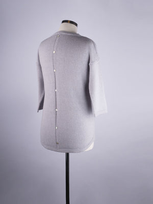 Button Back Jumper - Sky