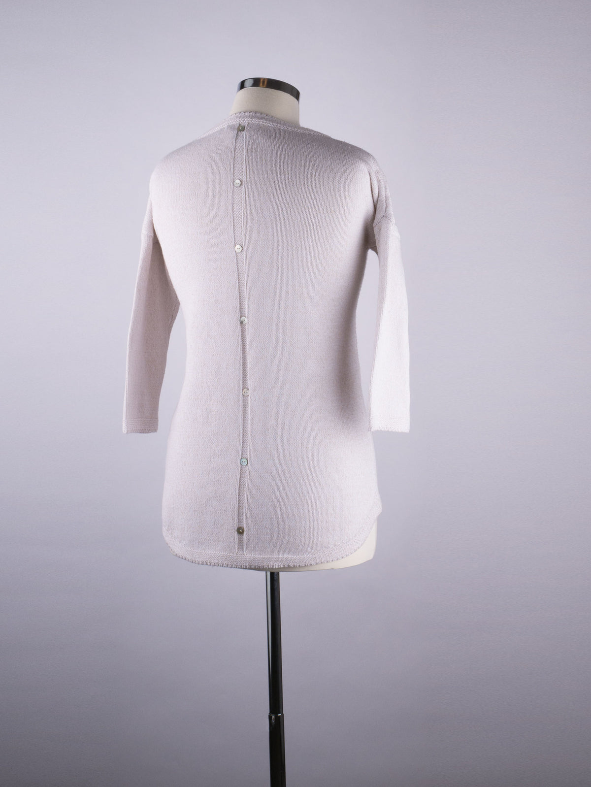 Button Back Jumper - Cream