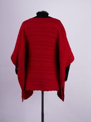 Cableknit Cashmere Poncho