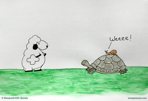 What did the snail say when riding on the back of a turtle?