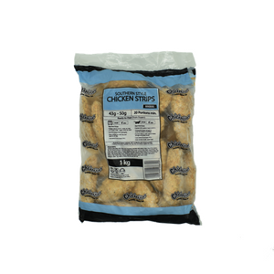 Southern Style Frozen Chicken Strips 1kg