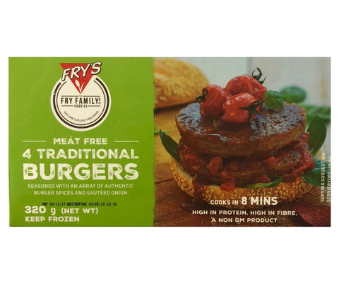 Fry'S Veg Traditional Burgers 320G