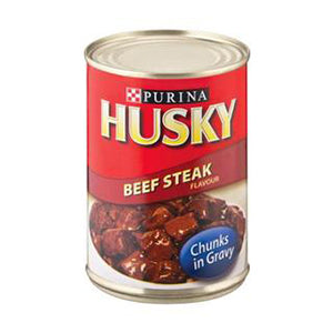 HUSKY CHUNKS BEEF STEAK 385G