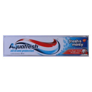 Aquafresh All In One Protection Fresh & Minty Box 100ml - BalmoralOnline - Household