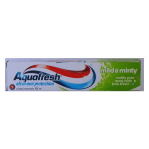 Aquafresh All In One Protection Mild & Minty Box 100ml - BalmoralOnline - Household