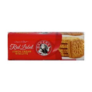 Bakers Red Label Lemon Creams Biscuits Pack 200g - BalmoralOnline - Groceries