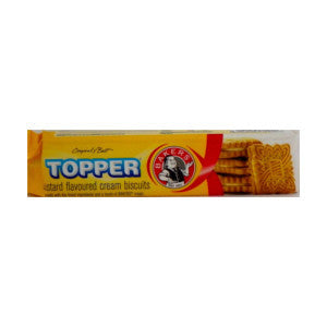 Bakers Topper Custard Flavoured Biscuits Pack 125g - BalmoralOnline - Groceries