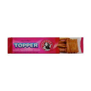 Bakers Topper Raspberry Flavoured Cream Biscuits Packs 125g - BalmoralOnline - Groceries