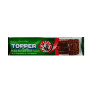 Bakers Toppers Mint Choc Flavoured Biscuits Pack 125g - BalmoralOnline - Groceries