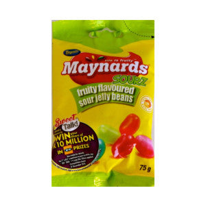 Beacon Maynards Fruity Flavoured Sour Jelly Beans Packet 75g - BalmoralOnline - Groceries