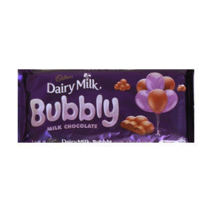 Cadbury Dairy Milk Bubbly Milk Chocolate Bar 150g - BalmoralOnline - Groceries