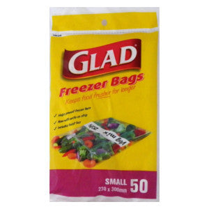 Glad Freezer Bags Small 50 Bags - BalmoralOnline - Household