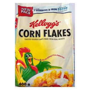 Kelloggs Corn Flakes Cereal Packet 400g - BalmoralOnline - Groceries