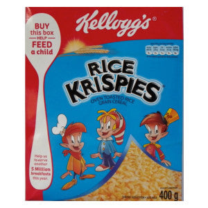 Kelloggs Rice Krispies Cereal Box 400g - BalmoralOnline - Groceries