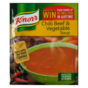 Knorr Chilli Beef & Vegetable Soup Packet 50g - BalmoralOnline - Groceries
