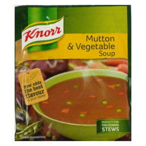 Knorr Mutton & Vegetable Soup Packet 50g - BalmoralOnline - Groceries