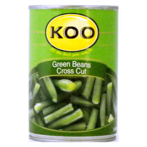 Koo Green Beans Cross Cut 410g Can - BalmoralOnline - Groceries