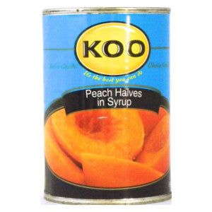 Koo Peach Halves In Syrup 410g Can - BalmoralOnline - Groceries