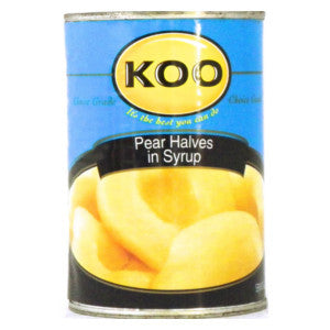 Koo Pear Halves In Syrup 410g Can - BalmoralOnline - Groceries