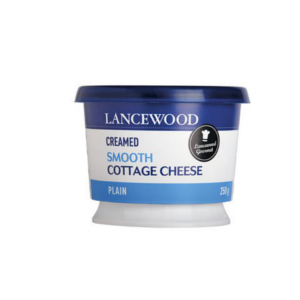 Lancewood Creamed Smooth Cottage Cheese Plain Plastic Tub 250g - BalmoralOnline - Groceries