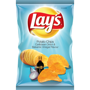 Lays Potato Chips Caribbean Onion & Balsamic Vinegar Flavour 125g - BalmoralOnline - Groceries