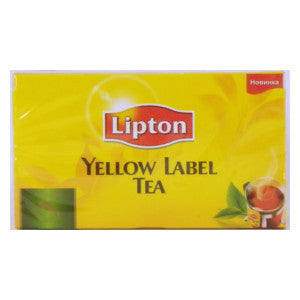 Lipton Yellow Label Tea Box 100g - BalmoralOnline - Groceries