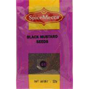 Spice Mecca Black Mustard Seeds 50g (61) - BalmoralOnline - Groceries
