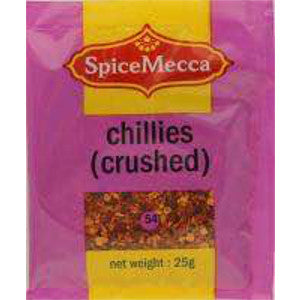 Spice Mecca Chillies Crushed 25g  (54) - BalmoralOnline - Groceries