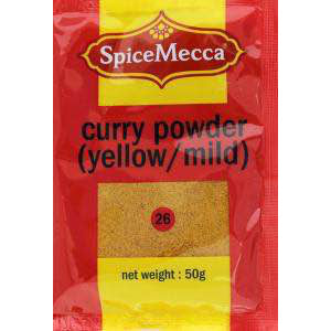 Spice Mecca Curry Powder Yellow Mild 50g (26) - BalmoralOnline - Groceries