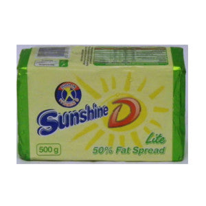 Sunshine D Lite 50% Fat Spread 500g - BalmoralOnline - Groceries