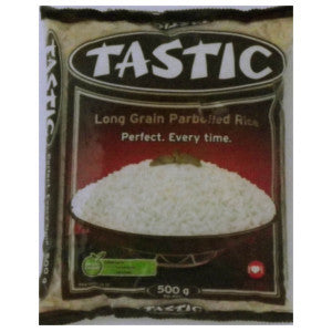 Tastic Long Grain Parboiled Rice 500g - BalmoralOnline - Groceries