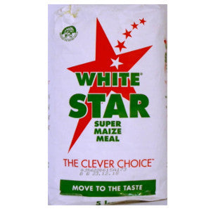 White Star Maize Meal Pack 5kg - BalmoralOnline - Groceries
