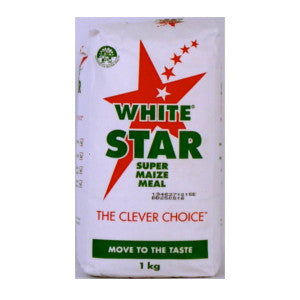 White Star Super Maize Meal 1kg - BalmoralOnline - Groceries